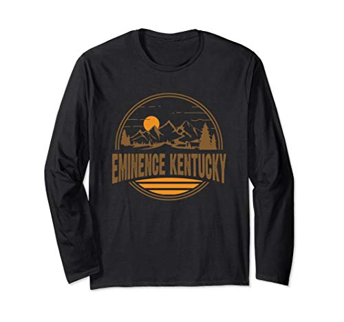 Vintage Eminence, Kentucky Mountain Hiking Souvenir Print Long Sleeve T-Shirt