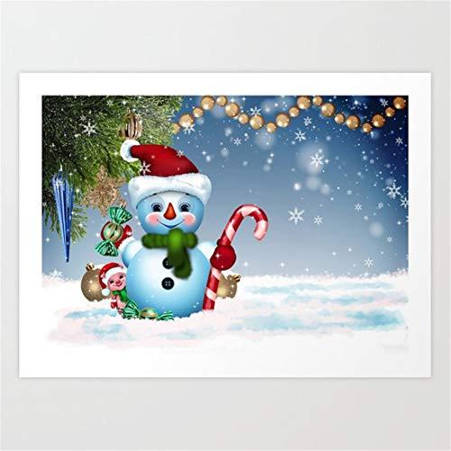 ATggqr Jigsaw Puzzle Puzzle 1000 Piezas Muñeco de Nieve de Navidad de Invierno Juego Intelectual para Adultos y niños Creativo Puzzle Regalos de Rompecabezas para la Damilia 50x75cm
