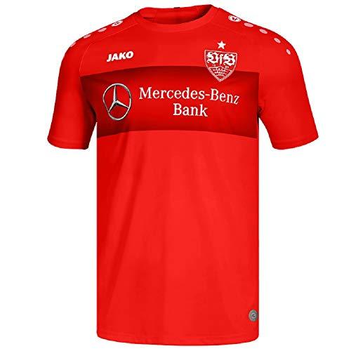 JAKO VfB Stuttgart Teamline Einlauf Trikot T-Shirt 19/20 (L, rot)