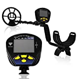 SuperEye Metal Detector for Adults with Waterproof Coil and Headphone Metal Detector Adjustable
