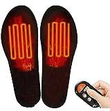 Plantillas calefactables con mando a distancia inalámbrico, eléctrico, USB, recargable, para calzado, calzado, calzado, para hombres, mujeres, invierno, caza, pesca, senderismo, L(41-46)