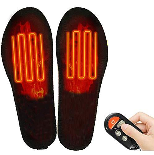 Qdreclod Plantillas calefactables con mando a distancia inalámbrico, eléctrico, USB, recargable, para calzado, calzado, calzado, para hombres, mujeres, invierno, caza, pesca, senderismo, M(35-40)