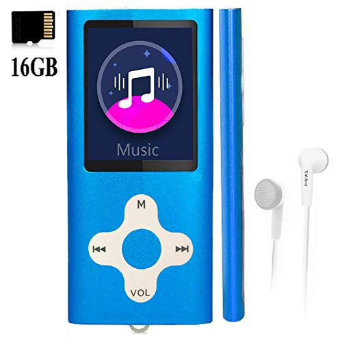 Mp3 Player,Music Player with a 16 GB Memory Card Portable Digital Music Player/Video/Voice Record/FM Radio/E-Book Reader/Photo Viewer/1.8 LCD