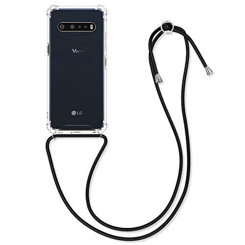 kwmobile Schutzhülle kompatibel mit LG V60 ThinQ - Hülle mit Kordel zum Umhängen - Silikon Handy Hülle Transparent