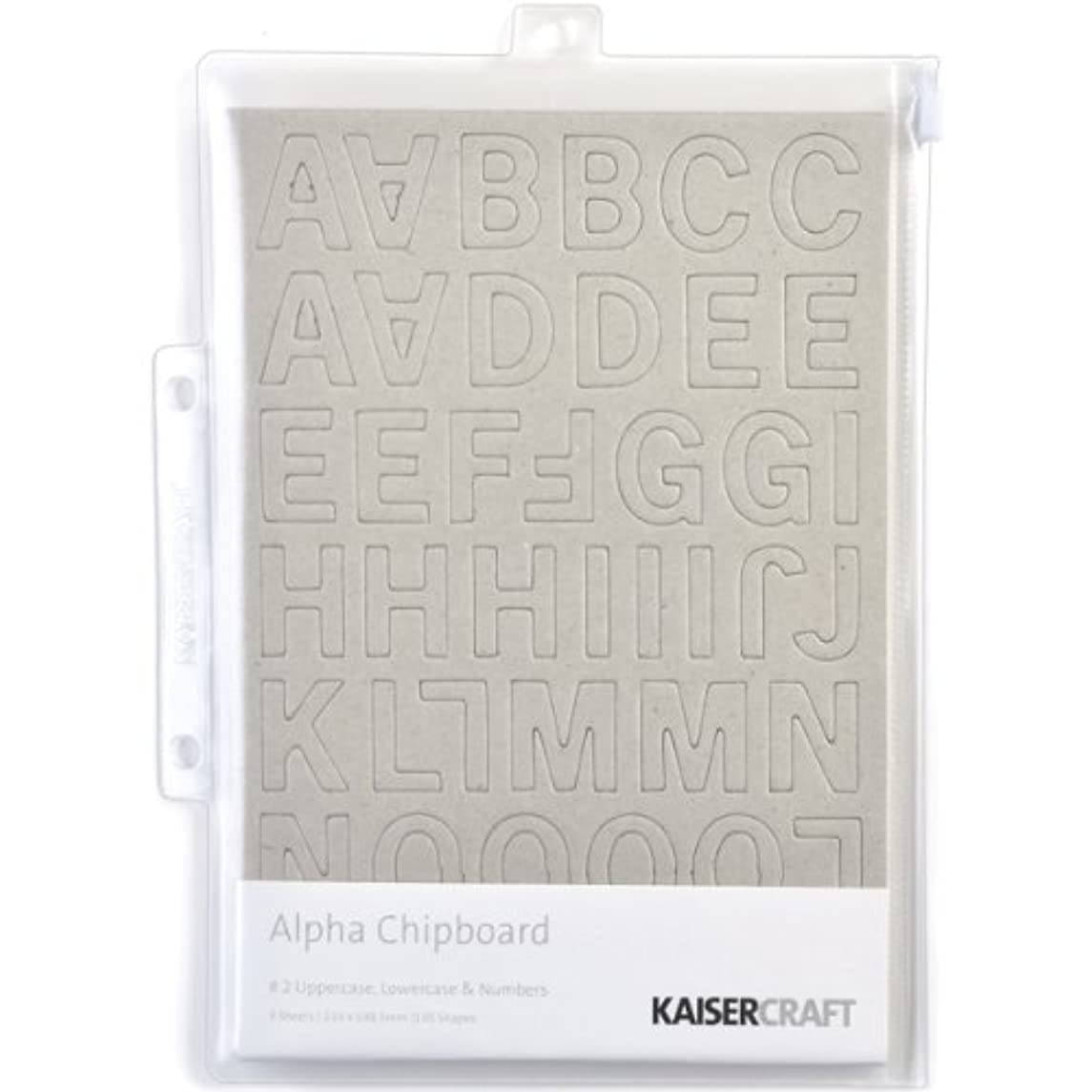 Kaisercraft Alpha No.2 Chipboard, 3 Sheets Per Package, Uppercase Lowercase and Numbers
