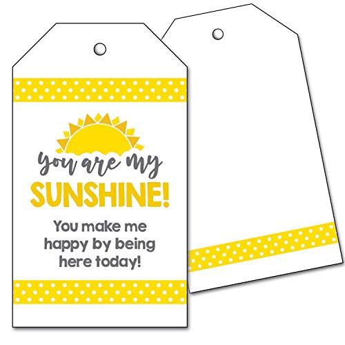 25 You Are My Sunshine Favor Tags