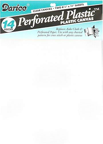 Darice Canvas Perforiert, 2 Pack, Plastic, transparent, 29.97 x 21.08 x 0.03 cm, 2-Einheiten