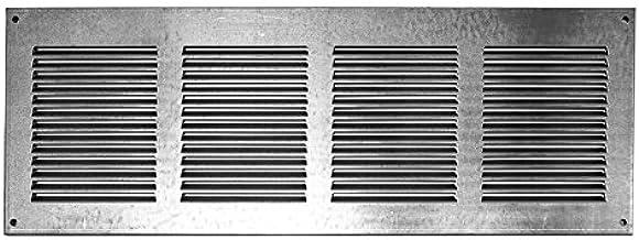 Griglia areazione 260x280mm in zincato rettangolare aerazione con protezione antinsetti in rete
