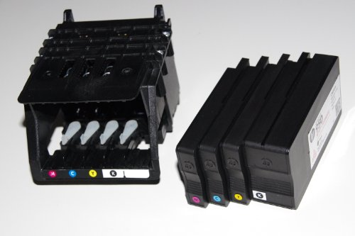 Original HP Druckkopf inkl.4 Patronen HP 950 / HP 951 mit Herstellergarantie für HP OfficeJet Pro 8100 (N811a), 8600 (N911a / N911g)