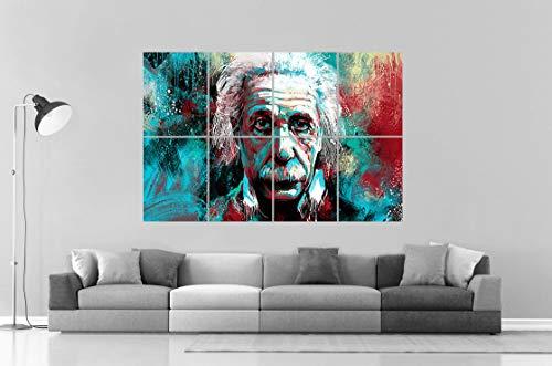 Paperposter Albert Einstein Pop Art Design Wall Poster Grand Format A0 Large Print 02