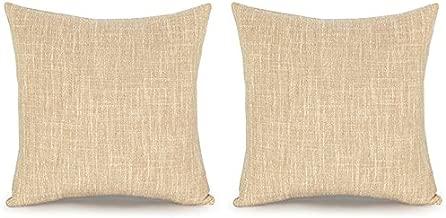 Acanva DP-SL-Beige-2P Decorative Throw Pillows, 24 x 24, Beige