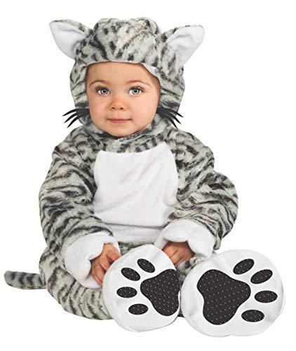 Disfraz de Gato Tigre Blanco para bebé, talla 1-2 años (Rubies 881529-T)