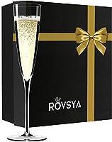 ペア シャンパングラス フルート ハンドメイド グラス クリスタルワイングラス シャンパーニュ 結婚祝いギフト 誕生日プレゼント 贈り物 2個セット オリジナル化粧箱(黄色いリボン) Y08