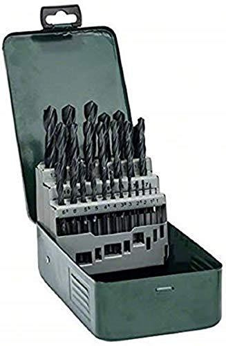 Bosch Home and Garden 2607019446 Bosch 25 Piece Metal HSS-R Drill Bit Set, Black