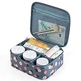Bolsa de cosméticos Ruesious, bolsa de maquillaje impermeable, bolsa de maquillaje de gran capacidad adecuada para viajes y uso diario