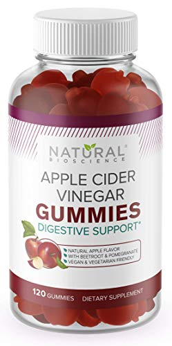 Apple Cider Vinegar Gummies for Weight Loss – 120 Day Supply, ACV Gummies with The Mother for Detox & Cleanse, Gluten-Free, Vegan Apple Cider Vinegar Gummy Vitamins B6, B9, B12, Beetroot, Pomegranate
