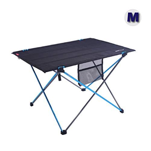 Azarxis Mesa de Acampada Plegable Mesa Portátil Ligera para Camping BBQ Excursión (Azul - M)