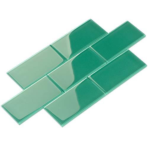 Phobello Glas-Fliese, grün, G5936-44