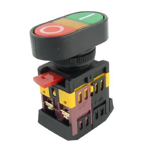 Sourcingmap a13070900ux0583, Pulsante ON/OFF, Momentaneo Interruttore a Pulsante con la Luce al Neon (AC 600V 10A, 220 V)