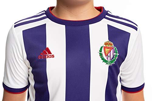 Camiseta oficial 1ª equipación del Real Valladolid C.F. Temporada 2019/20, Juventud unisex, Talla 140