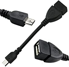 Micro USB to OTG Works with Oppo R15 Pro Direct On-The-Go Connection Kit and Cable Adapter! (Black)