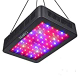 Niello 600W LED Pflanzenlampe Doppel-10W-Chips LED Grow Light Vollem Spektrum LED Wachstumslicht 60 LEDs Pflanzenlicht Grow Lamp mit UV & IR und mit Rope Hanger für Zimmerpflanzen,Gemüse und Blumen