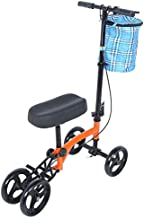 GOTOTOP Mobility Knee Walker,Steerable Scooter for Broken Leg, Foot, Ankle Injuries, Kneeling Quad Roller Cart,Orthopedic Seat Pad for Adult and Elderly Medical,4 Wheel Caddy Crutch Bag Included