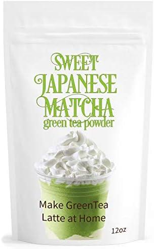 Sweet Japanese Matcha Green Tea Powder Mix 12oz Homemade Matcha Green Tea Latte or Frappe product image
