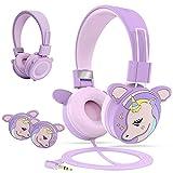Puersit Kopfhörer Kinder,Kabel Kopfhörer für Mädchen, Kinderkopfhörer mit 85dB...