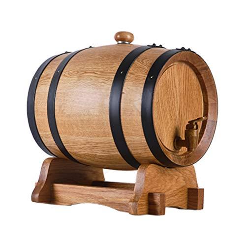 Barril de Vino, Barril de Roble, Barril de Madera, Tostado Sin Revestimiento, para Almacenamiento o Envejecimiento Barriles de Vino y Licores Porta Vino 5L 10L 20L 30L 50L (Size : 5L)