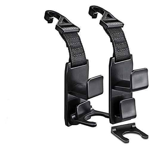 Bingesss 2pcs Magic Headrest Ganchos Ajuste for la percha de la percha de la percha de la percha de la percha for el organizador del asiento detrás de los ganchos de los ganchos del asiento del asient