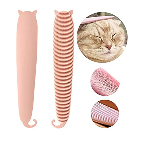 ねこじゃすり 猫舌 ブラシ 猫マッサージくしブラシ 櫛 ペット猫の舌コーム 洗える グルーミングくし ねこ魔法棒 抜け毛取り ペット用品