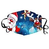 Resplend Weihnachten Lustige Mundschutz-, Waschbar Staubdicht Baumwolle Face Bandana mit Motiv, Niedliche Face Halstuch Cover für Erwachsene und Kinder