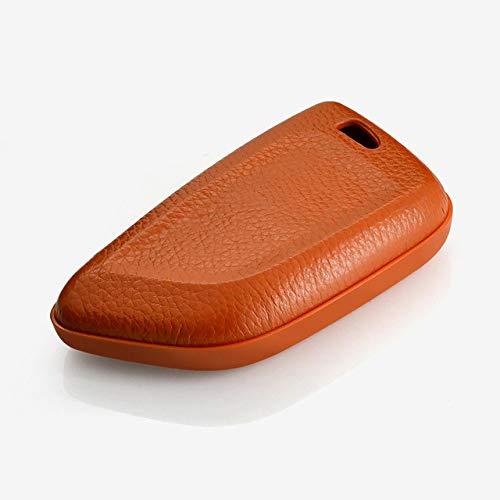 QCTDM Cubierta de la Llave del Coche para para Car Styling Key Cover Case para BMW x5 E53 X3 E83 G30 E90 E39 E46 F30 F10 F20 E34 E38 Z3 Key Ring Shell Key Case Fob Llavero, marrón Sola Carcasa