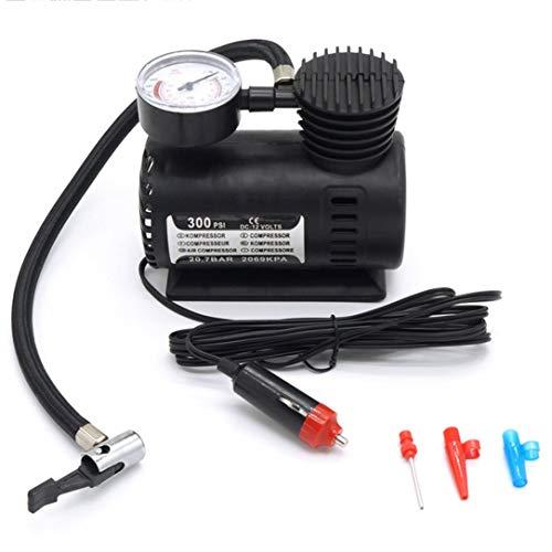 Mini-Luftkompressor Elektropumpe ABS Automotive Langlebige Fahrzeugluftpumpe 300 PSI Reifenfüllpumpe DC 12V Autoteile - Schwarz