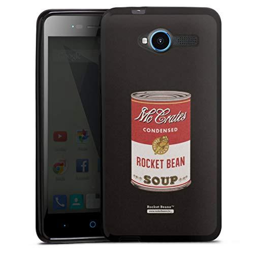 DeinDesign Silikon Hülle kompatibel mit ZTE Blade L3 Hülle schwarz Handyhülle Rocket Beans TV YouTube Zocken