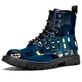 BENNIGIRY Patrón de Calle Comercial Botas de caña Alta para Mujer Zapatos clásicos de Invierno...