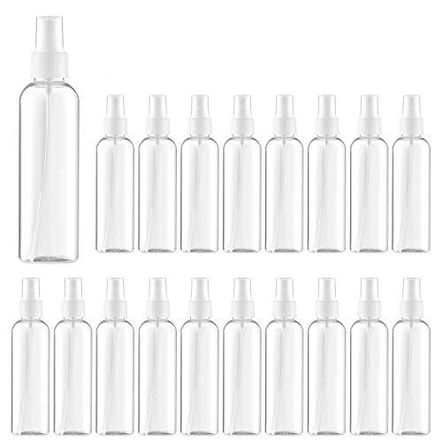 Spray Bottle 3.4oz/100ml Refillable Fine Mist Sprayer Leak Proof Travel Bottle Set, Clear, 24 PCs
