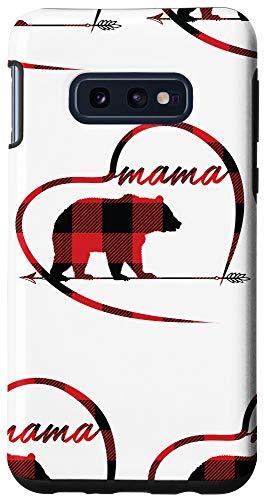 Galaxy S10e Mama Bear Phone Cases Red Plaid Cute Heart Phones Mama Bear Case