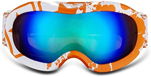 LFDHSF Gafas Deportivas Gafas, Parabrisas para niños Doble Espejo antiniebla Simple y Doble Tabla Snow Mirror
