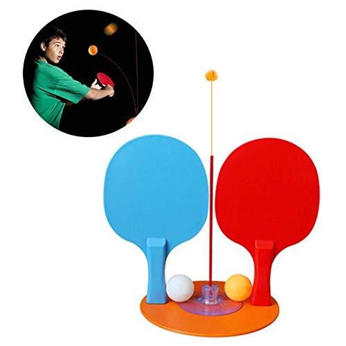 Wood.L Dispositif d'entraînement Individuel pour Tennis de Table, entraîneur élastique de Balle Rebelle pour Enfants First-Rate