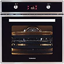 Tornado OV60GDFFS-2 Gas Stainless Steel Oven and Electric Grill with Convection Fan - 64 L, Silver Black