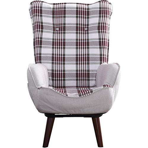 WHOJA Sillón Reclinable Simplicidad Moderna Rotación de 360 ° Respaldo Plegable sillón Sofá de Tela Peso del rodamiento 150kg Gris Azulado Sillon Relax(Color:Gris)