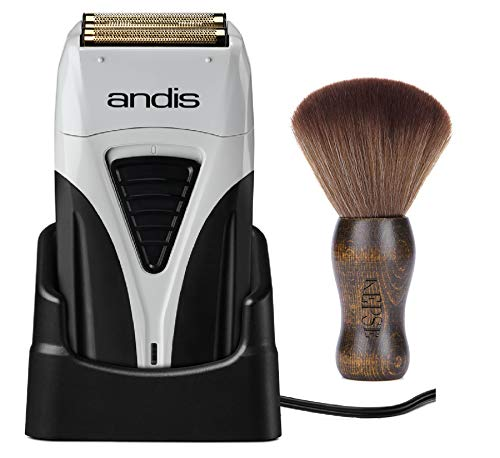 Andis Professional Cordless Profoil Lithium Plus Titanium Foil Shaver (17200) - Bundled with KEPSE Neck Duster