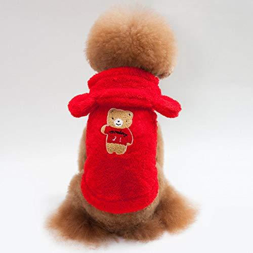 Ropa De Perro Abrigo Chaqueta Bulldog Francs Ropa para Mascotas Disfraz De Invierno para Perros Ropa De Perrito De Franela Suave para Perros Abrigo Pug Bear Ear Ropa para per