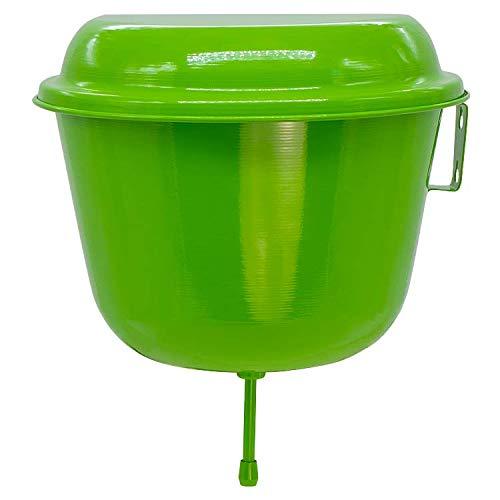 Olymp Wasserspender 6 Liter aus Aluminium, (Grün), H - 25 cm, D - 28 cm; Rukomojnik, Umivalnik, Aluminium, Дачный Рукомойник