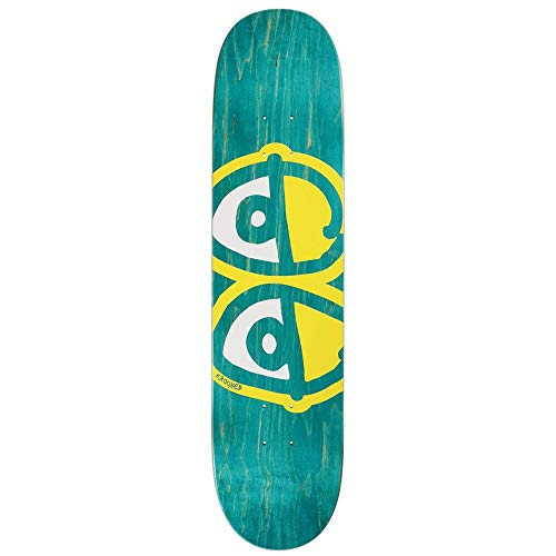 Krooked Team Eyes Skateboard-Brett / Deck, 20,5 cm, Gelb