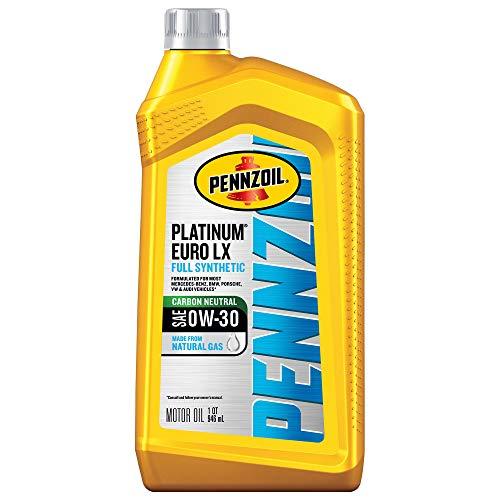Pennzoil Platinum Euro LX SAE Full Synthetic 0W-30 Motor Oil (SN C2/C3 + OEMs), 1 Quart, Case of 6