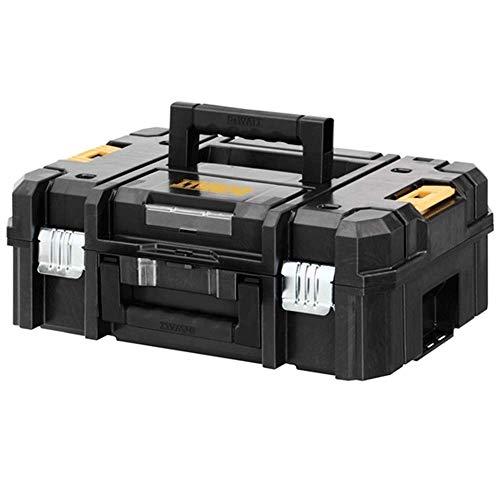 Dewalt DWST1-70703 TStak II Caja de almacenamiento de herramientas eléctricas con capacidad de 13,5 L, color negro