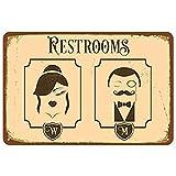 Letrero de metal con texto en inglés 'Can Sign Public Toilet Advertencia Decoración Hogar Retro-Tin Sign 8x12'